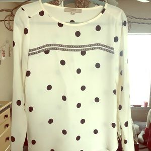 Polka dot professional blouse